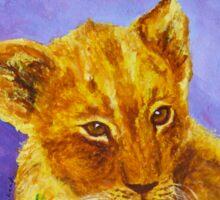 African Lion Cub Sticker