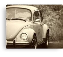 Peace Bug black and white Canvas Print