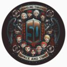 50 Years of Timelords STICKER by Bamboota