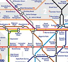 Tube Map by Polly May Walters