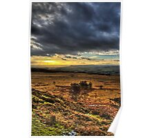 Sunset over the Peak District Poster