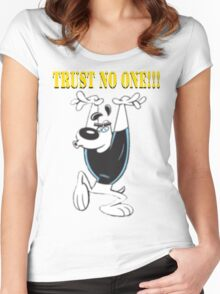 TUFF Puppy - Trust No One Women's Fitted Scoop T-Shirt