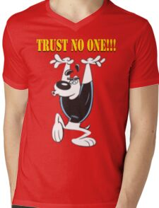 TUFF Puppy - Trust No One Mens V-Neck T-Shirt