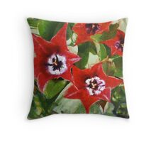 Xmas Tulips Throw Pillow