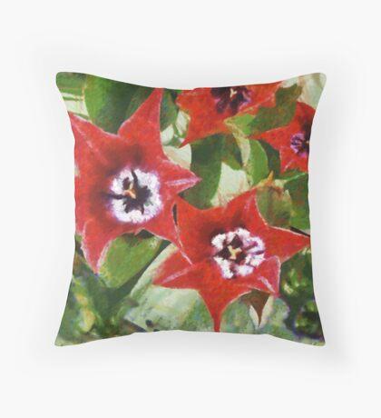Xmas Tulips Throw Pillow