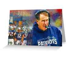Legend Bill Belichick New England Patriots Greeting Card