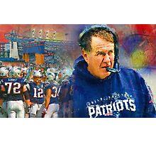 Legend Bill Belichick New England Patriots Photographic Print
