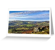The View From Curbar Edge Greeting Card