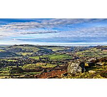 The View From Curbar Edge Photographic Print