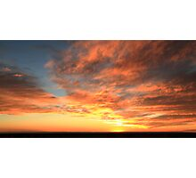 Colorful Sunset Sky over the Mohave Desert Photographic Print