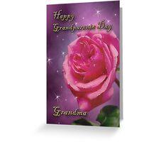 Grandparents Day Grandma Rose Greeting Card