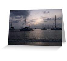 Catamaran Landscape Greeting Card