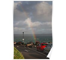 A rainbow over St Ives in Cornwall Poster