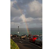 A rainbow over St Ives in Cornwall Photographic Print