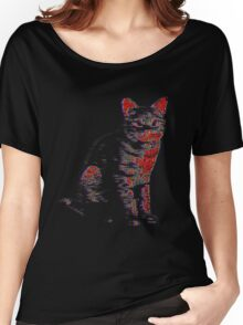 Psychedelic Feline Women's Relaxed Fit T-Shirt