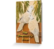 Grandparents Day Grandpa Doves Greeting Card