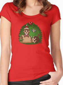 Merry Holidays! Women's Fitted Scoop T-Shirt