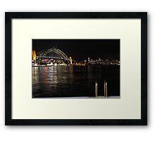 Harbour Bridge at Night Framed Print