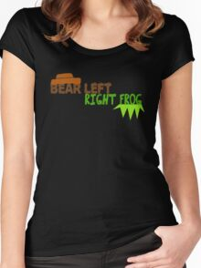Bear Left Right Frog Women's Fitted Scoop T-Shirt