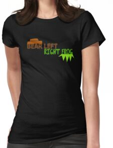 Bear Left Right Frog Womens Fitted T-Shirt