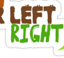 Bear Left Right Frog Sticker