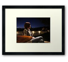 The Girl at the Cafe Framed Print