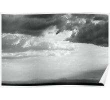 Storm light over the desert  Poster