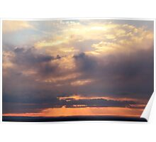 Storm Clouds at Sunset, Mohave Desert  Poster