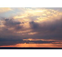 Storm Clouds at Sunset, Mohave Desert  Photographic Print