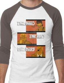 The Good, The Bad and The Boss - A Metal Gear Movie Men's Baseball ¾ T-Shirt