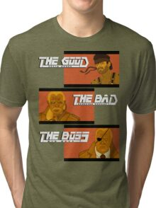 The Good, The Bad and The Boss - A Metal Gear Movie Tri-blend T-Shirt