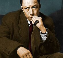 Colorized Albert Camus by taudalpoi