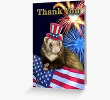 Thank You Ferret Greeting Card