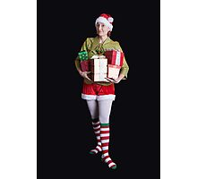 Santa's Helper Merry Christmas Elf Card Photographic Print