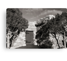 Stone House and Junipers Canvas Print
