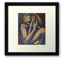Emotional - Female Nude Portrait Framed Print