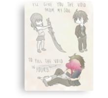 Inori and Shu - Guilty Crown Canvas Print