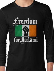 Freedom for Ireland (Vintage Distressed Design) Long Sleeve T-Shirt