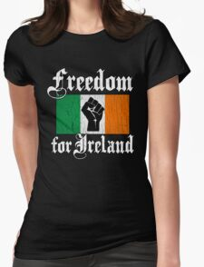 Freedom for Ireland (Vintage Distressed Design) Womens Fitted T-Shirt