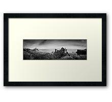 Ireland Panorama BW - Dunluce Castle Framed Print