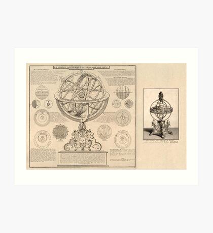 Celestial Sphere 1716 Art Print