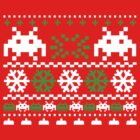 Funny Ugly Christmas Holiday Sweater Design by robotface