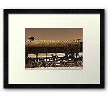 Train Cemetery Framed Print