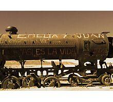 Train Cemetery Photographic Print