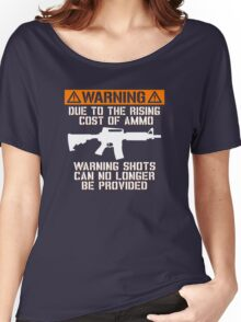 Funny - No Warning Shots Women's Relaxed Fit T-Shirt