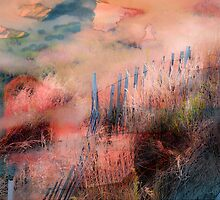 Colorful Auras...Grey Fences by Susan Werby