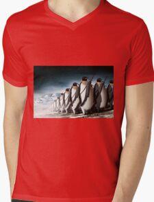 Penguin Army Mens V-Neck T-Shirt