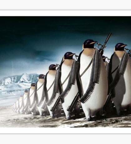 Penguin Army Sticker