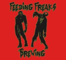 Feeding Freaks Brewing Green Logo Kids Tee