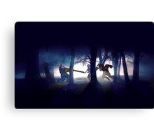 Splatter house pixel art Canvas Print